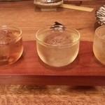 居酒屋 金市朗 - 梅酒の飲み比べ