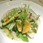 ル・ジャルダン・デ・サヴール - ミッシェル ブラスのスペシャル 30種類の温野菜のガルグイユ