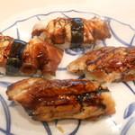 もり川 - 握り(煮蛸、穴子)