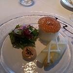 ミクニ ヨコハマ - 大きなアスパラ、メレンゲの中に黄味