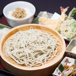 蕎麦処 みかわ - 料理写真:天ぷらとろろ御膳