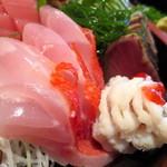 金山魚市場ぴち天 - 金目鯛、ハモ