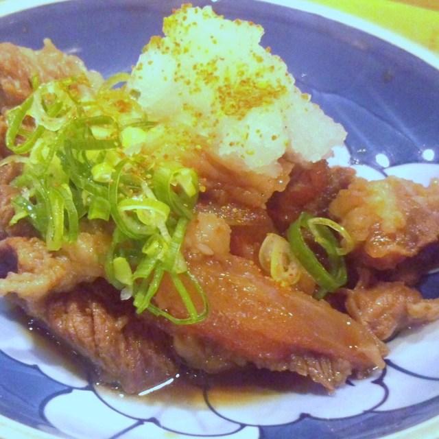 旬菜割烹 和しん - 牛スジポン酢です