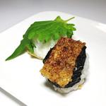 ゆの花おはぎ - 料理写真:『焼き』と『青しそ』