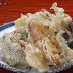 そば処 角弥 - 野菜の天ぷら 1200円