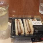 上島珈琲店 - ロースカツサンドセット
