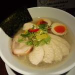 らーめん 鶏喰 - 鶏塩ラーメン・味玉&胸肉チャーシュー入
