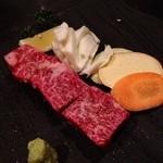19074108 - 厚切り焼肉定食のお肉