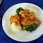 中国料理 石本 - 二人分のホタテ(2個/人)。これがメインディッシュか