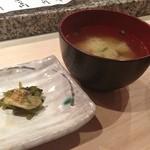 つかさ鮨 - 味噌汁も出汁うまし!