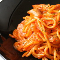 ワイン処 SASAYA - ちゃんぽん麺を使ったパスタ。その名も『パスチャ』もちもちの食感がたまりません。