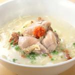 鳥料理 有明 - その特製麺を使ってお昼は20食限定のらーめんをやっております