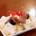 川口バル - 【ある日のおすすめ】アンチョビポテサラ。一風変わった大人の味。