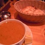 ケバブ家 KEBAB ye - レンズ豆のスープとパン