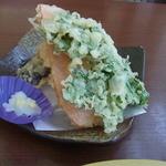 Kikyou - 茂木の新鮮春野菜天ぷら(300円)