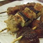 春田屋 - 椎茸、ネギま、かしら?
