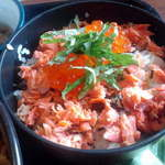 和田小屋 - 鮭イクラ丼