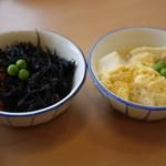 龍野堂本食堂 - ひじき・高野豆腐(各105円)