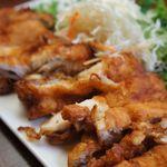 くつろぎ茶屋わらく - 料理写真:好評!ジャンボチキンの南蛮ソース