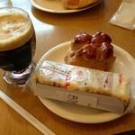 19095439 - ミニサンド¥250 ミニクルミ¥120 アイスコーヒー¥370