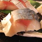 産直屋 魚渋 - 〆 黄金さば