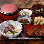 うな泰 - 黒潮定食(坂東太郎):県外のお客様に人気メニューです。