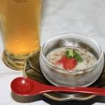 竹千代霧島 - もずくとろろです。爽やかな味わいです。