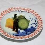 竹千代霧島 - お新香も美味しかったですよ。