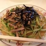 新大宮 中華のサカイ - 新大宮 中華のサカイ 本店の焼豚冷麺(大)1100円(13.05)