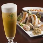 シンプルキッチン - 生ビール(ハートランド)は何杯飲んでも390円!ブラジル生ソーセージとの相性抜群♪