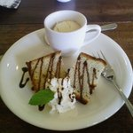 café & Italian Crack Pot - デザート(マンゴーアイスとバナナシフォンケーキ)