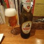Gatti - イタリアのビール。モレッティ。スッキリ系。