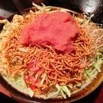 八広亭 - 料理写真:もんじゃ598円、ベビースター60円、メンタイコ210円