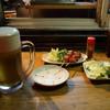 Yakitorikun - 料理写真:生中と焼き鳥