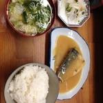 とんかつ 安右衛門 - 鯖の味噌煮