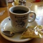 コメダ珈琲店 - お豆さん付きコーヒー