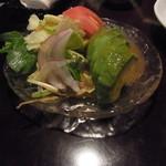 さヽ木 - アボカドサラダ(\500) :  本日の1品料理。日替わりで10種類以上の一品料理があるようです、メニュー写真忘れorz