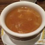 中国名菜 銀座アスター - フカヒレと冬瓜のスープ