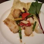 中国名菜 銀座アスター - 帆立貝とイカの豆豉炒め