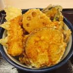 19118840 - 野菜天丼+いか