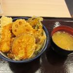 19118845 - 野菜天丼+いか 50円