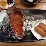 19121136 - 鶏南蛮焼き1,000円(横のは薩摩揚×2)