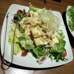 (コース3品目)蒸し鶏と豆腐の和風サラダ ※3人分