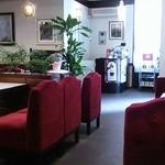19124055 - ベルベット調のあずき色ソファー。落ち着きます!