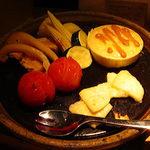 19130071 - 6種野菜の鉄板フォンデュ