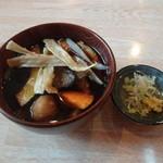 カフェレストラン 睦 - 2013.5 素揚げした野菜につゆを入れていただきます。