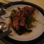 19132731 - 柔らかく煮込まれた豚肉、ソースとの相性も良