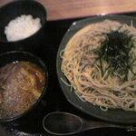 19133513 - 鶏たまつけ蕎麦(790円)