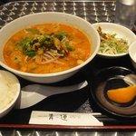 19134659 - 胡麻坦々麺セット 990円
