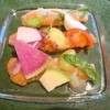 炭火焼きステーキ灰屋 - 料理写真:アトランティックサーモンのマリネと八街産無農薬野菜のマリアージュ